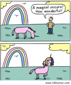 Remeber kids: a unicorn isn't just for Christmas